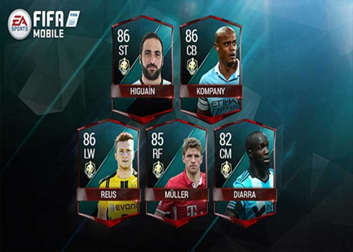 Fifa mobile jugadores