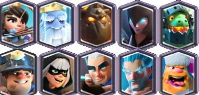 Cartas legendarias de clash royale