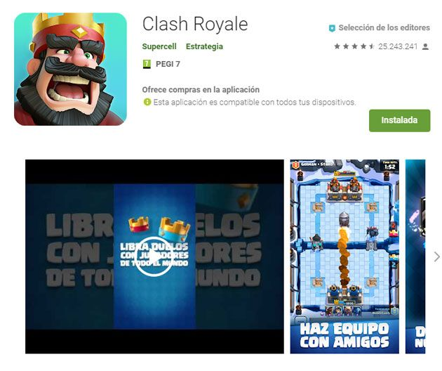Requisitos clash royale
