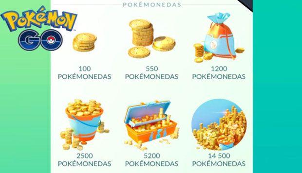 las pokemonedas en pokemon go precio de la tienda