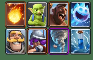 mazo sin cartas legendarias arena 8