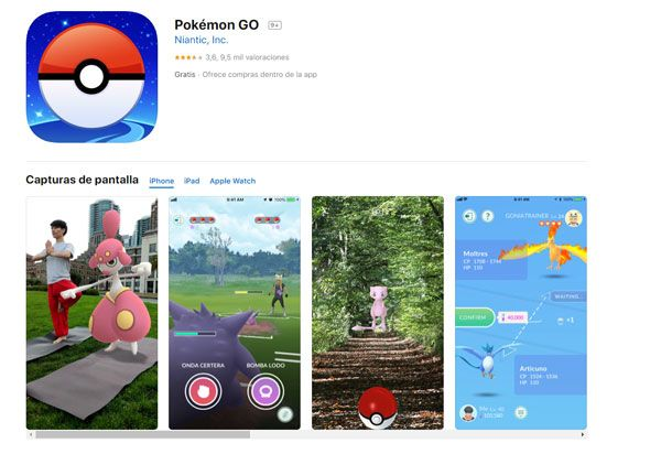 pokemon go requisitos ios