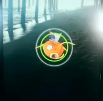 Capturando pokémon círculo