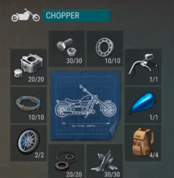 Conseguir chopper en last day on earth