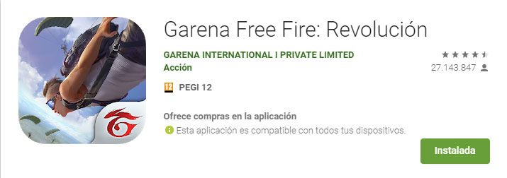 requisitos mínimos de garena free fire