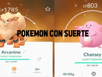 Pokémon con suerte como conseguir