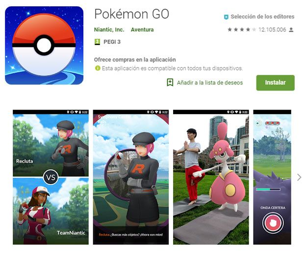 requisitos pokemon go