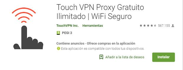 Touch vpn proxy