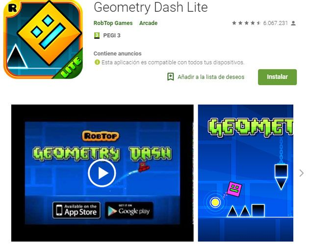 Requisitos geometry dash