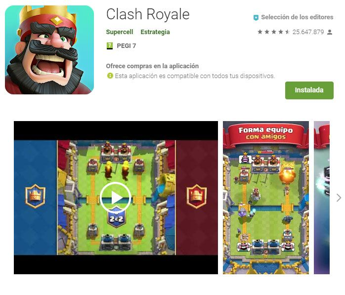 Clash royale en Android requisitos