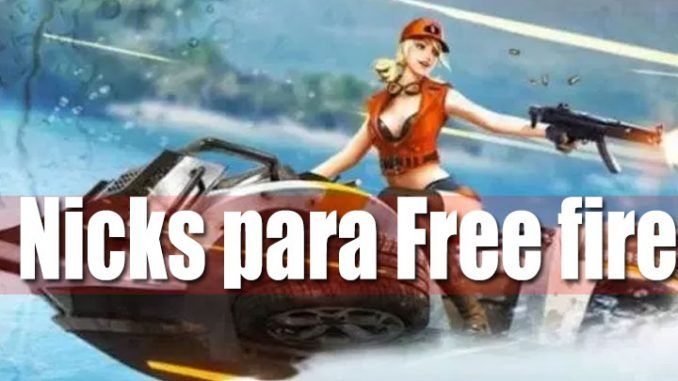 nicks originales para free fire