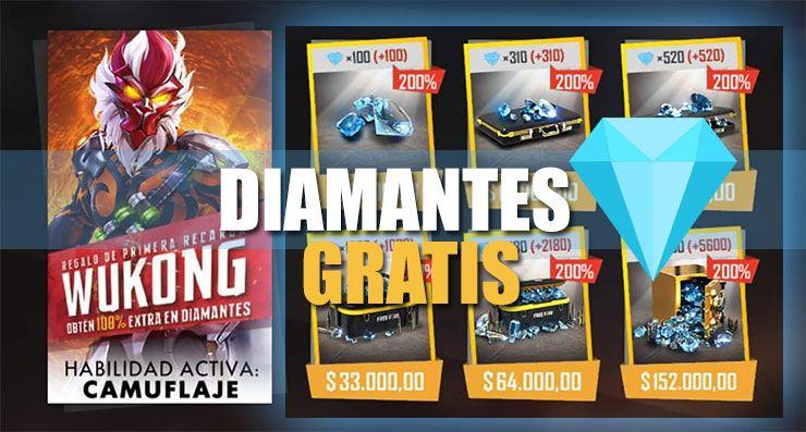 Diamantes gratis free fire