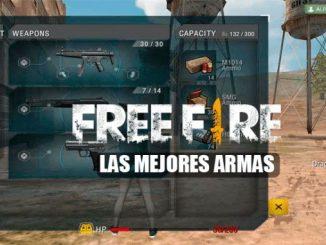 Las mejores armas de Free Fire