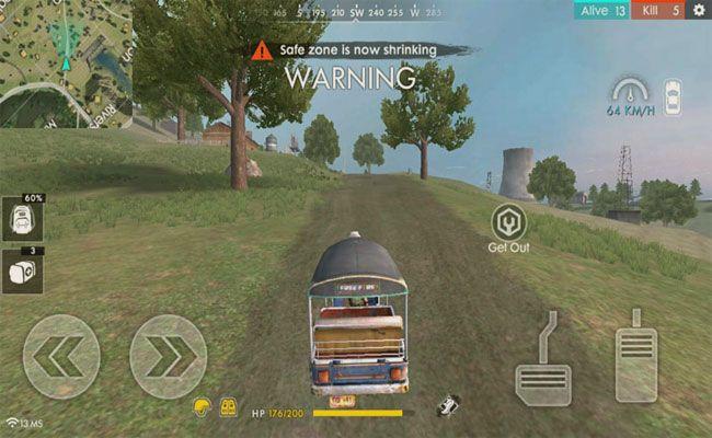 Tuk Tuk de Free Fire carro