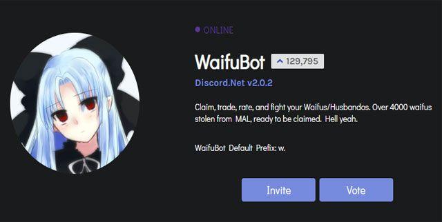 Waifu bot Discord