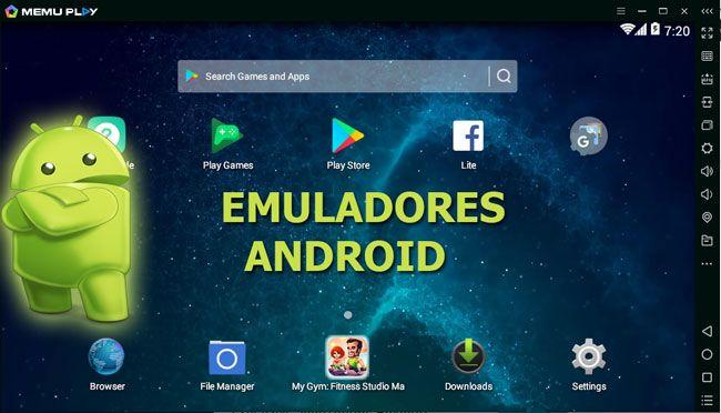 Con emuladores de Android