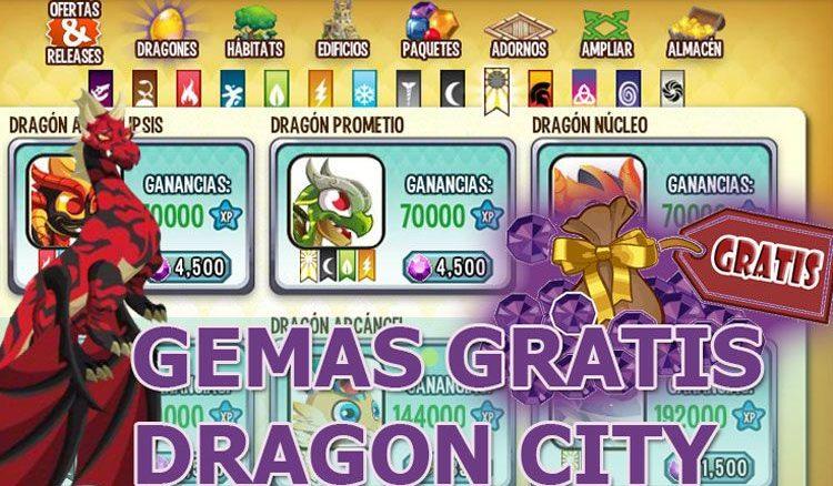Gemas gratis dragon city