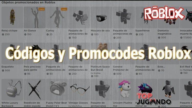 codigos y promocodes de roblox