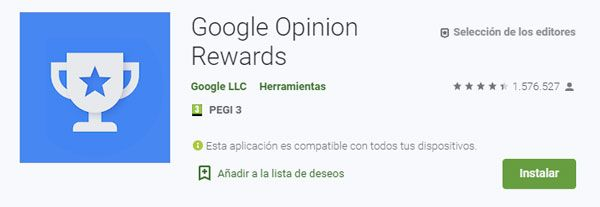 Descargar app google opinion rewards