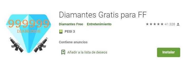 diamantes gratis para Free fire con app