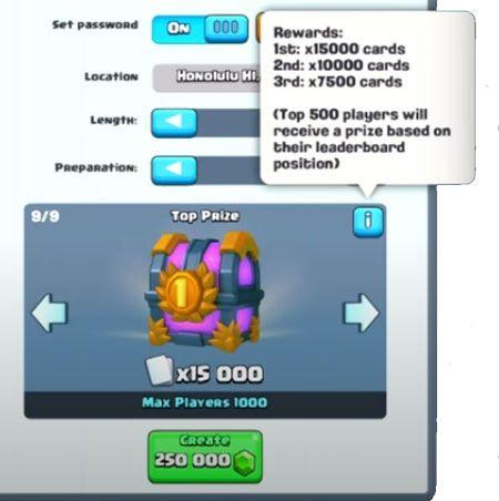 250000 gemas torneo