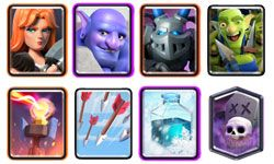 Deck with graveyard and freeze for arena 13