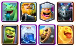 Deck with Lumberjack and Royal giant