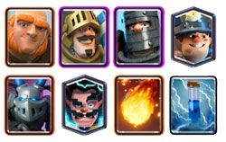 Giant Double Prince deck with electro wizard