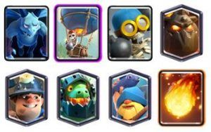 Lavaloon Miner deck with fisherman