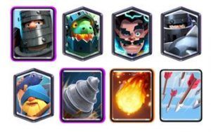 Mega Knight Goblin Drill deck