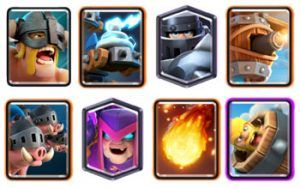 Mega Knight Royal Hogs with Mother Wtich deck