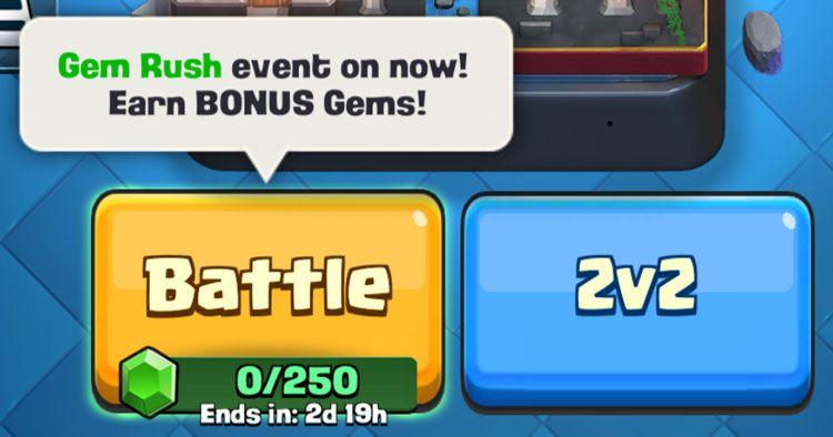 double gems not working in clash royale
