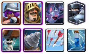 Goblin Drill Wall Breakers with Mega Knight and Prince