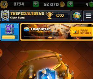imagen de oro en clash royale